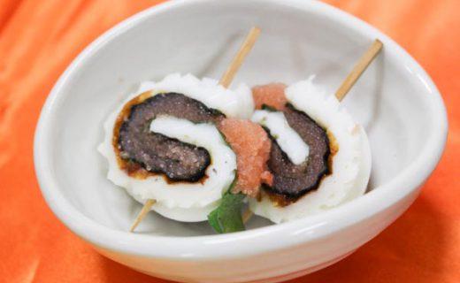 明太子レシピ-くるくるちくわ明太