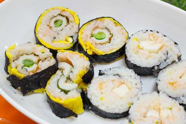 明太子レシピ-明太子巻き寿司